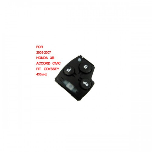Honda Accord Civic Fit Odyssey remote 433mhz 3 button (2005-2007)