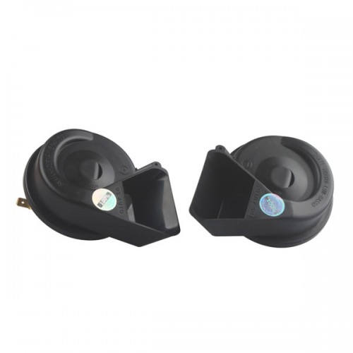 Universal MINI Black Loud Dual-Tone Snail 12V 65C Electric Horn Waterproof 2pcs/lot