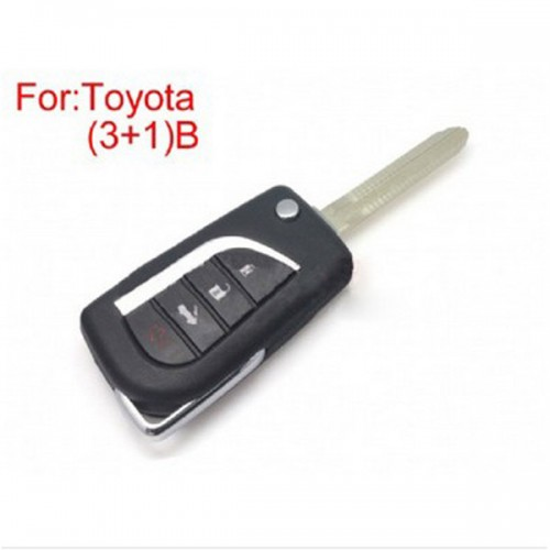 Modified Flip Remote Key Shell (3 +1) Button for Toyota 5pcs/lot