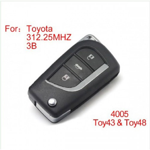 Modified Remote Key 3 Buttons 312MHZ for Toyota (not including the chip)