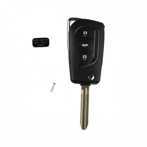 Modified Flip Remote Key Shell 3 Button for Toyota 5pcs/lot