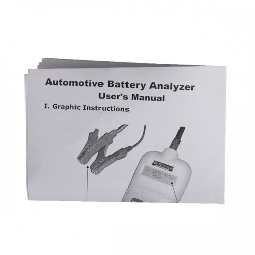 Auto Battery Analyzer Battery Tester for IR CCA Voltgage Free Shipping