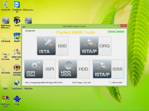 V2015.01 ICOM Rheingold ISTA-D 3.46.30 ISTA-P 3.54.1.001 for BMW Win8 System 500GB New HDD without USB Dongle Multi-Languages