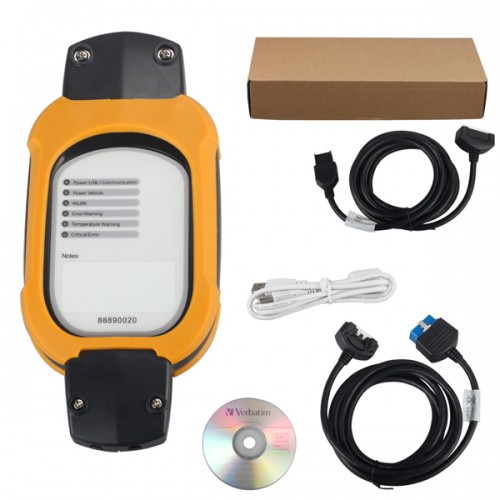 Vcads 88890180 (88890020 + yellow protection) Auto Diagnostic Interface for Volvo Supports Multi-languages