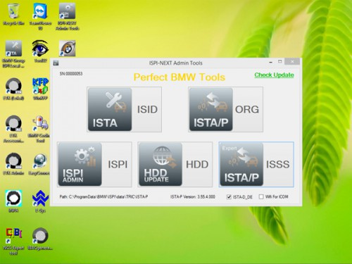ICOM HDD V2015.6 / Win8 system ISTA-D 3.49.30, ISTA-P 3.55.4.000 without USB Dongle for BMW