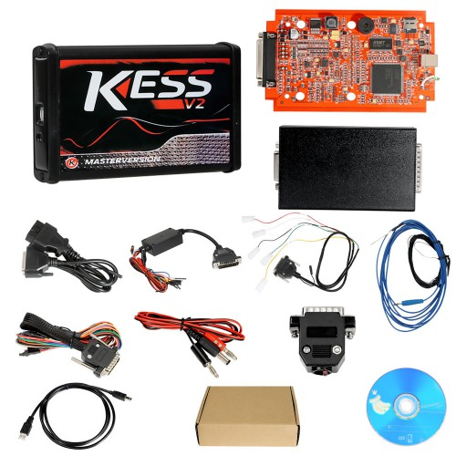 (UK Ship No Tax) Kess V5.017 Online Version Supports 140 Protocol and EU Version Red PCB New 4LED KTAG 7.020 Firmware V2.23 No Token Limited