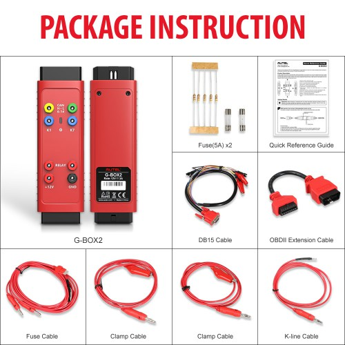 (UK Ship No Tax) Autel G BOX2 G-Box 2 Tool for Benz All Keys Lost Works with Autel MaxiIM IM608