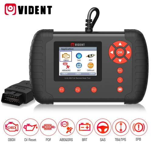 (US,UK Ship No Tax) VIDENT iLink450 ABS &SRS reset /DPF/Battery Configuration Full Service Tool