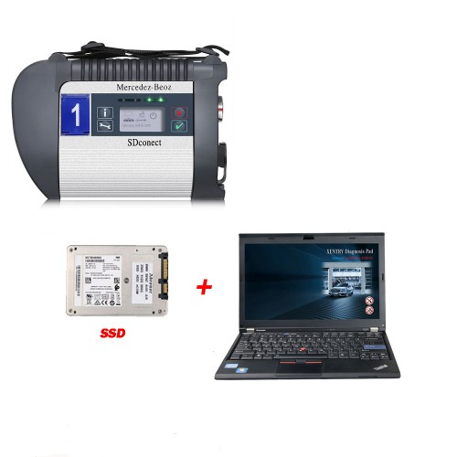 DOIP MB SD C4 PLUS Connect Compact C4 Star Diagnosis with 2020.09 Software SSD Plus Lenovo X220 I5 4GB Laptop