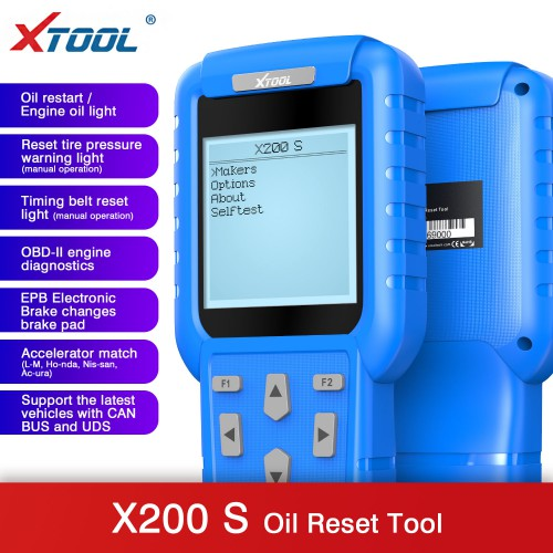 Original XTOOL X-200 X200 Oil Reset/Engine Oil Light Reset Master Free Shipping