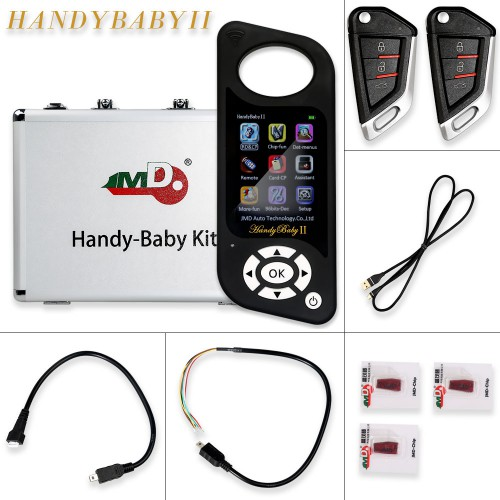 JMD Handy Baby II 4D/46/48 Chips Car Key Chip Copier Key Programmer Handy Baby 2 with 10pcs JMD King Chips 46/4C/4D/G Chip