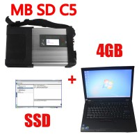 V2021.03 MB SD Connect C5 Star Diagnosis with 256GB SSD Software Plus Lenovo T410 4GB Second Hand Laptop With DTS Monaco & Vediamo