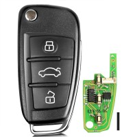 (UK Ship No Tax) XHORSE XKA600EN VVDI2 Audi A6L Q7 Type Universal Remote Key 3 Buttons 10pcs/lot