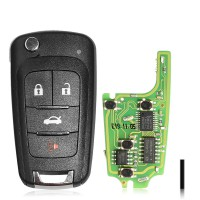 XHORSE XNBU01EN VVDI GM FLIP KEY TYPE UNIVERSAL REMOTE KEY 4 BUTTONS - WIRELESS PN 5pcs/lot