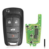 XHORSE XKBU01EN Universal Remote Key Fob for Buick working with Xhorse VVDI Key tool English Version 5pcs/lot