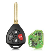 XHORSE XKTO02EN Key Remote Triangle 4 Buttons for Toyota 5pcs Free Shipping