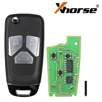 XHORSE XKAU01EN for Audi Style Wired VVDI Universal Flip Remote Key with 3/4 Button