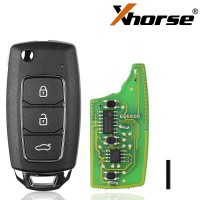 XHORSE XKHY05EN HYU.D Style Wired Universal Remote Key Fob 3 Button for VVDI Key Tool (English Version) 2017