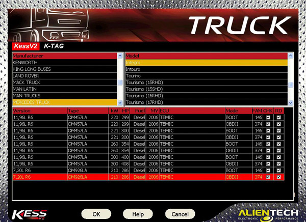 Kess v2 truck version software