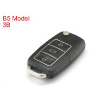 B5 Type Remote Key Shell 3 Buttons with Waterproof (Black) for Volkswagen 5pcs/lot