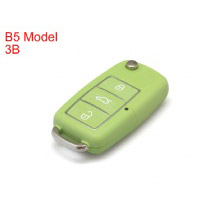 B5 Type Remote Key Shell 3 Buttons with Waterproof (Green) for Volkswagen 5pcs/lot