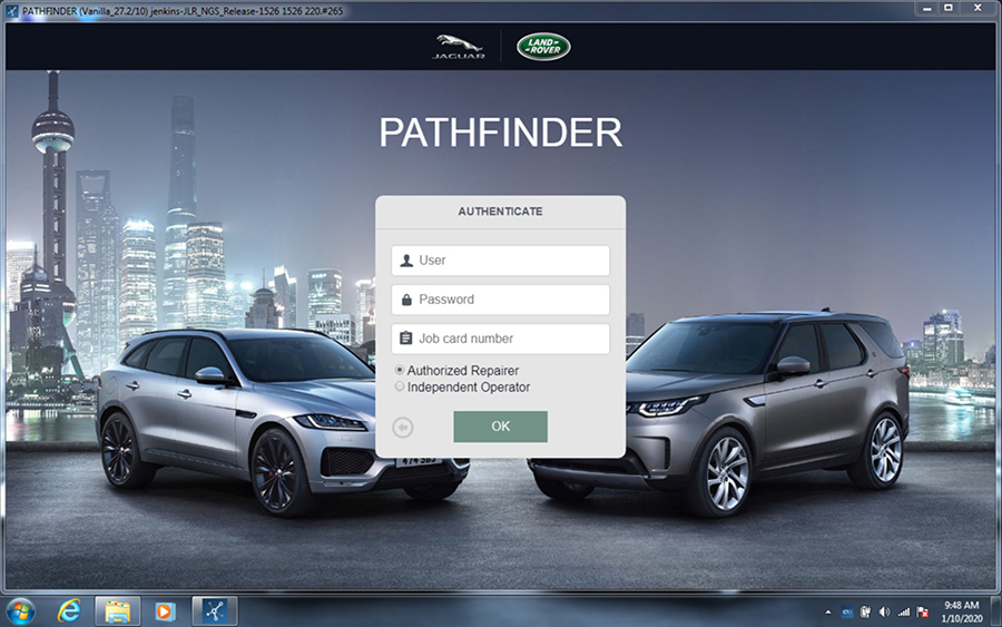 VXDIAG VCX SE JLR pathfinder software